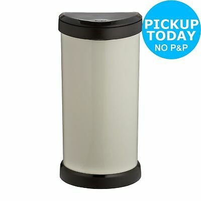 Curver 40 Litre Touch Top Kitchen Bin - Ivory.