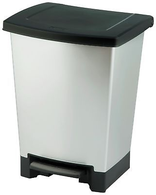 Curver Mistral 25L Duo Recycle Bin - Silver