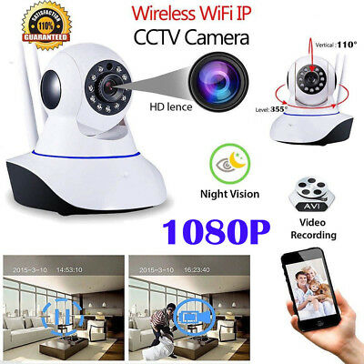 1080P HD Wireless IP Camera Home CCTV WiFi Security System Network Night Vision
