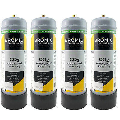 4 x Zip gas 91295 Sparkling Replacement CO2 Cylinder 1.3Kg Crystella CR0406001