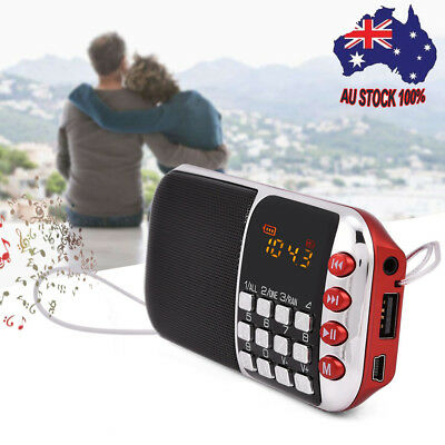 2Band FM/AM Radio HiFi Stereo Speaker SD/USB MP3 Player Support Micro SD TF Card