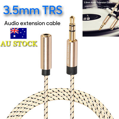 0.5m-5m 3.5mm TRS Audio Extension Cable Male to Female Laptop Headphone Lead