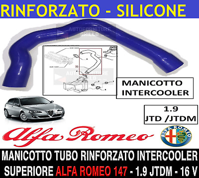Alfa Romeo 156 Manicotto Collettore Aspirazione / Intercooler Superiore 1.9 - 8V