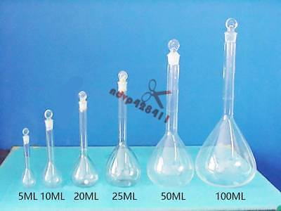 Borosilicate Glass Volumetric Flask with Stopper