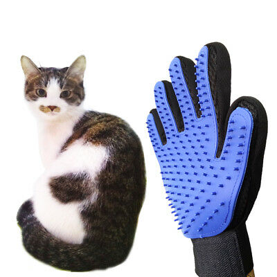 Pet Glove Brush Hair Comb Silicone Dog Cat Grooming Massage Soft Bath Shedding