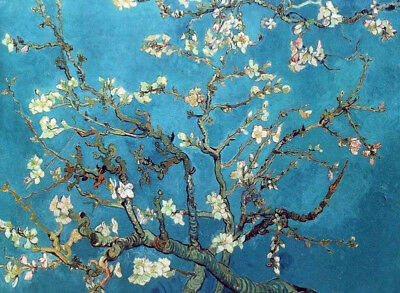 "Branches With Almond Blossom by Van Gogh, Oil Painting Reproduction, 34"" x 24"""