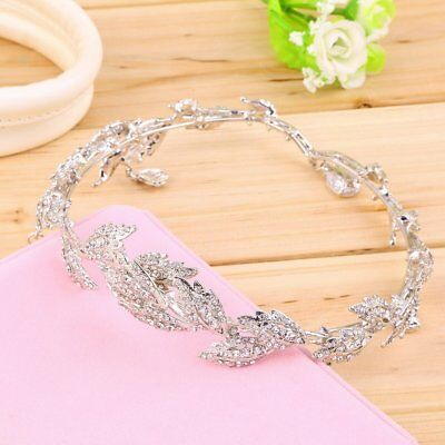 """Elegant Bridal Rhinestone crystal prom hair chain forehead band Headpiece"" AZ"