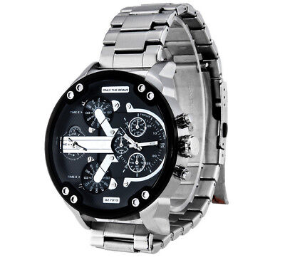 Men's Fashion Luxury Watch Stainless Steel Sport Analog Quartz Wristwatches NEW