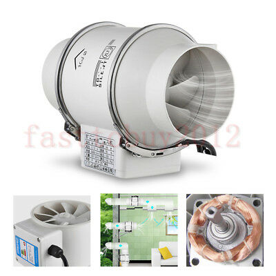"""Blower Cooling Fan 4"""" 5"""" 6' 8"""" 10"""" Inline Duct Pipe Air Exhaust Ventilation 220V"""