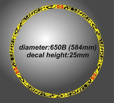 """DEEMAX ULTIMATE STYLE MAVIC YELLOW & BLACK RIM DECAL SETS for two wheels  27'5"""""""