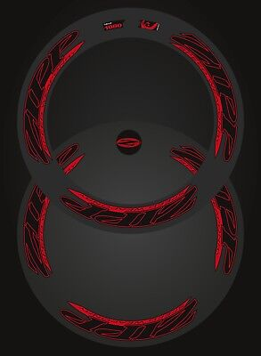 Zipp 1080/disc Speed Weaponry Combined Decal Set For Two Wheel  Black/red