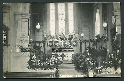 Pulborough Church 1911 real photo old vintage postcard