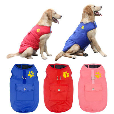 Waterproof Warm Dog Clothes Reversible Winter Small to Large Dog Doggie Coat