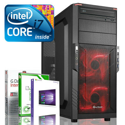 Ultra i7 DX12 Gaming PC Computer i7 920 - GT 710 2GB - Win10 - 8GB - 500GB WLAN