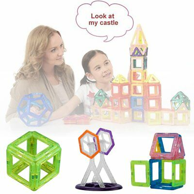 NEW 58PCS Magnetic Construction Building Toys Educational Blocks Gifts For Kids