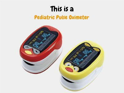 Cute Medical Infant Finger Pulse Oximeter Pediatric SpO2 Blood Oxygen Saturation