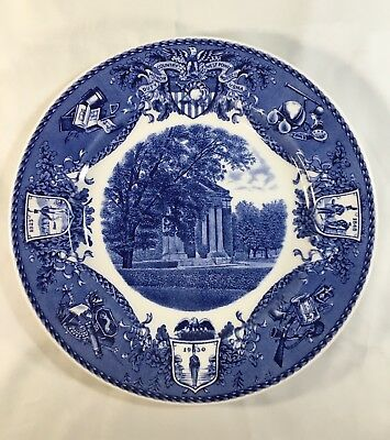 """Historical Blue WEDGWOOD 10.5"""" Plate - OLD CADET CHAPEL"""