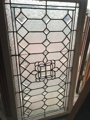 SG 2472 antique textured and beveled glass transom window 28.5 x 52.5