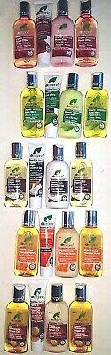 dr organic 2/3/4x SHAMP/COND/LOTION/BODY WASH/OIL/CREAM/TOOTHPASTE: TRAVEL/FULL