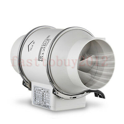 """2600rpm Inline 6"""" Inch Pipe Air Blower Cooling Duct Exhaust Fan Ventilation PVC"""