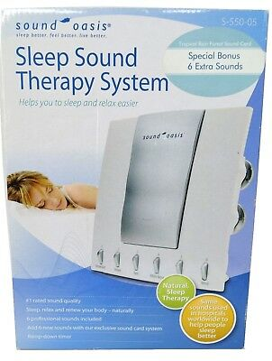 Sound Oasis S-550-05 Sleep Sound Therapy System 6 Nature Sounds & Tropical Sound