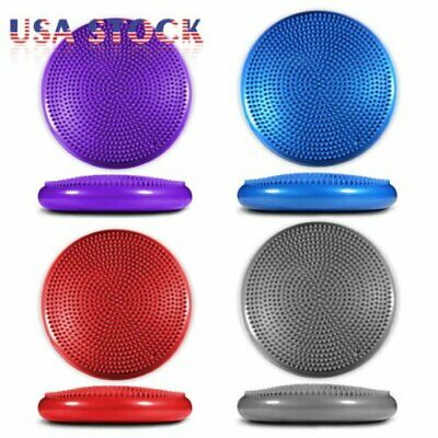 Yoga Balance Board Disc Gym Stability Air Cushion Wobble Pad Physio w/ Pump