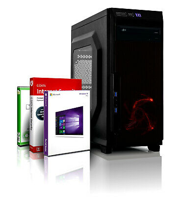 DX12 ULTRA EXO GAMING PC INTEL i7 8GB 750GB SSHD GT 710 Windows 10 WLAN Computer