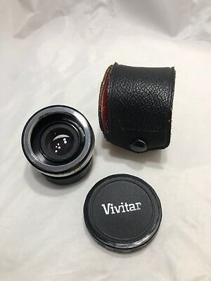 M42 Vivitar Automatic 2x-1 Teleconverter Pentax? Screw Mount w/ Case & Cap Bag2