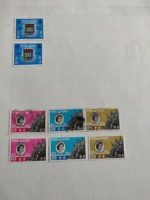 Hong Kong QEII Mint & Used Collection on Album Page. Unchecked.