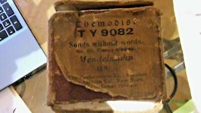 SONGS WITHOUT WORDS No20 FLEECY CLOUDS MENDELSSOHN  VINTAGE PIANOLA ROLL