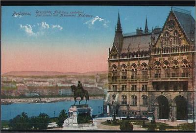 143.215  Ungarn, Budapest, Parlament mit Monument Andrássy