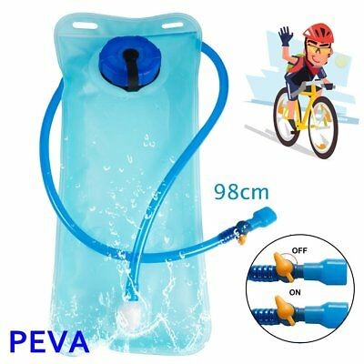 2L Bicycle Bike Cycling Mouth Water Bladder Bag Hydration Camping Sports Blue BT