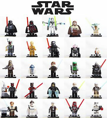Lego Minifigures Star Wars Last Jedi Darth Vader - Kylo Ren - Yoda - Custom Like