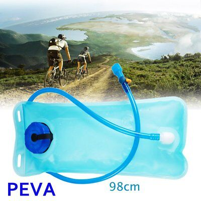 Water Bladder Bag Hydration Pack Storage Climbing Bicycle Mouth Drink 2L PEVA BT