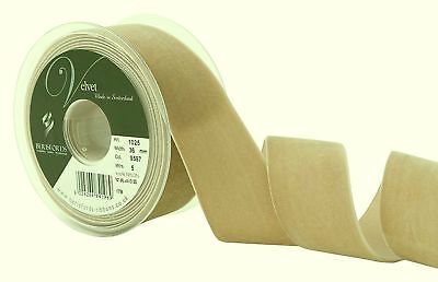 Berisfords Earth Light Brown Velvet Ribbon Cut Lengths 5 Widths Colour 9597