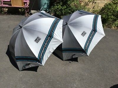 A Pair Of Lambert and Butler large advertising Umbrella One With tag Still 80s