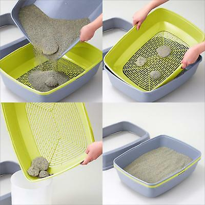 Moderna Cat Grey Scoopless Litter Tray Sifting Toilet Box High Sided