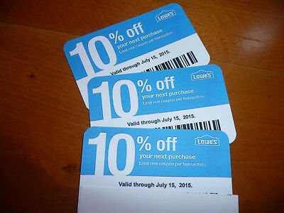 (20x) 10% Off SEPT 15 2019 Lowes Gift Coupons for Home Depot & Competitors Only!