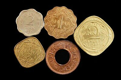 1944 to 1959 India Coin Lot 1 Anna 2 Anna 1 Pice Indian Coins Rainbow Toning