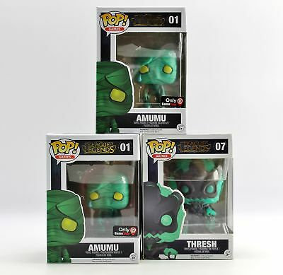 Funko Pop! League of Legends Thresh #07 Amumu #01 GameStop Exclusive Figure Lot