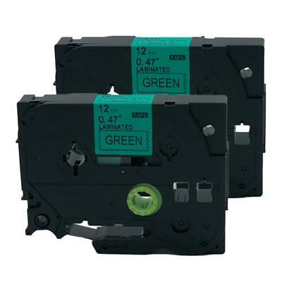 2PK Compatible for Brother P-TouchTz TZe-731 Label Tape Cartridge Black on Green