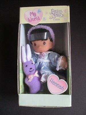 "Precious Moments ""my World"" Doll 1999  Hannah  New In Box"