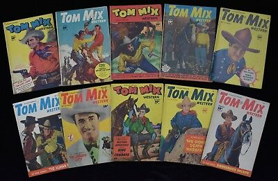 Tom Mix Fawcett Western Comic Books Lot (10)