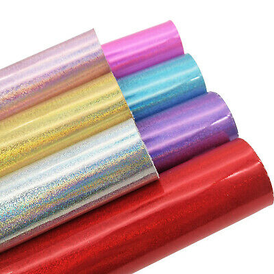 Holographic Smooth Fine Glitter Twinkle Leather Fabric Craft Bag Material Sheets