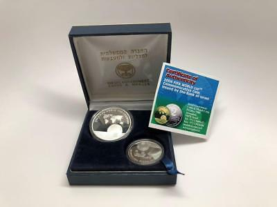 2006 Israel Silver Proof Coin Set of 1,2 Sheqel - In Case - World Cup FIFA 2004