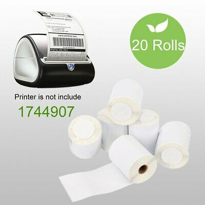 20 Rolls DYMO 4XL Thermal Shipping Labels 4X6 1744907 Compatible 220 Per Roll