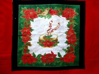 MUSICAL INSTRUMENT Fabric Cotton Craft Quilting Panel CHRISTMAS - DRUM