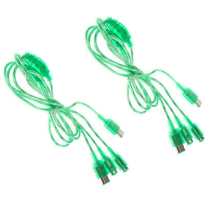 2 Pieces Durable 2 Player Link Game Cable for Nintendo GBC/ GBP/ GB Green