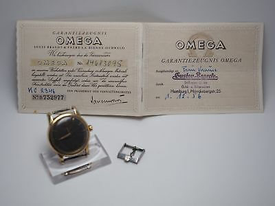 OMEGA Seamaster Ref 2846 - 3SC Automatik Stahl / Gold Cal. 501 Papiere 1956