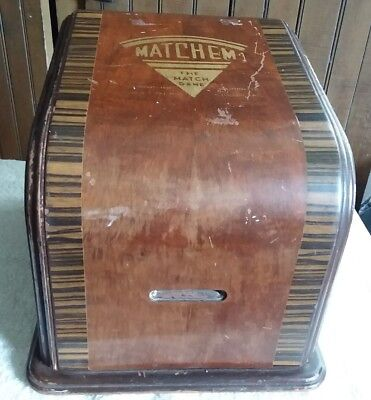 Vintage 1942 Matchem The Match Game Trade Simulator Wooden Case
